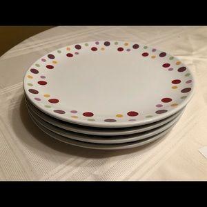 Pampered Chef Polka Dot Large Plates
